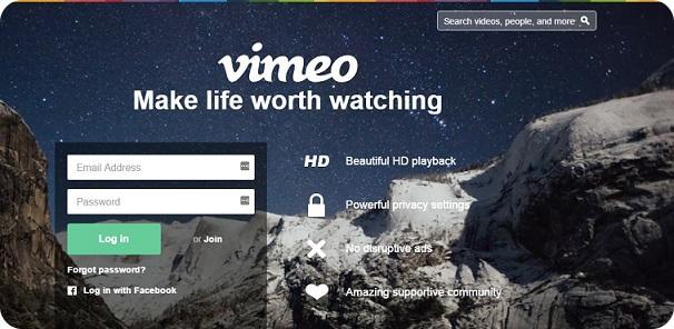 Vimeo - видео хостер для заливки и распространения видео в интернете